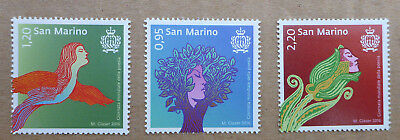 2016 San Marino Set Of 3 World Poetry Day Mint Stamps Mnh