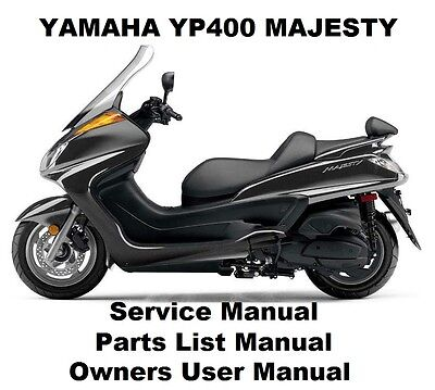 YAMAHA YP400 MAJESTY - Owners Workshop Service Repair Parts Manual PDF on CD-R