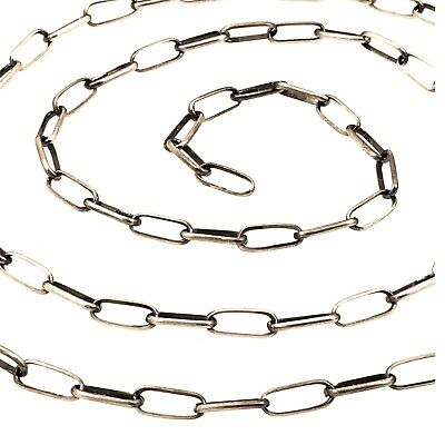 """24"""" Navajo Handmade Sterling Silver Link Chain Necklace Sally Shirley"""