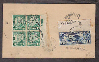 US - 1929 Zeppelin postal card mailed to Germany & back to USA