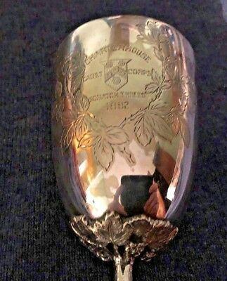 Antique 1882 Mappin & Webb Silver Plated Goblet Inscribed Charterhouse Cadet Cor