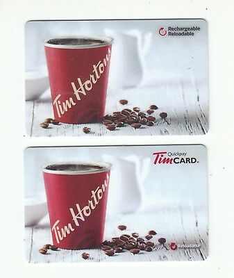 2 diff Tim Hortons gift card Canada 2015 is English other is bilingual NO VALUE