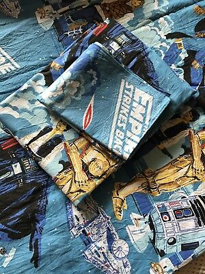 Vintage Collectable  Cotton Star Wars Sheets In Like New Condition