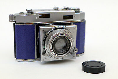 BLUE Ansco Karomat camera, serviced and film-tested - everything works!