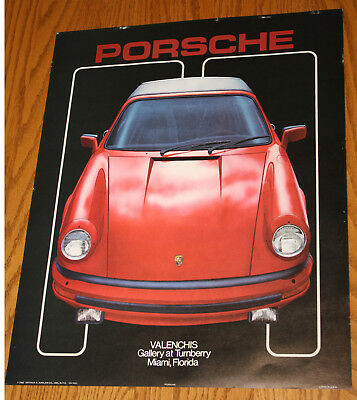 """1983 Porsche Valenchis Gallery at Turnberry, Miami Florida poster 16x20"""" VH-7031"""