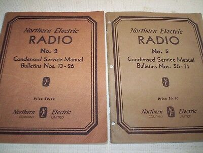 northern electric service manuals #2  and  # 5
