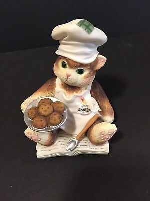 """Calico Kittens """"You Spice Up My Life"""" Chef Kitty Kitten W/Cookie Fiqurine 720712"""