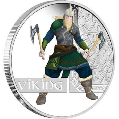 Tuvalu 2010 $1 Great Warriors Series - Viking 1 Oz Silver Proof Coin