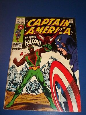 Captain America #117 Silver Age 1st Falcon Huge Key Wow Fine-/Fine Beauty