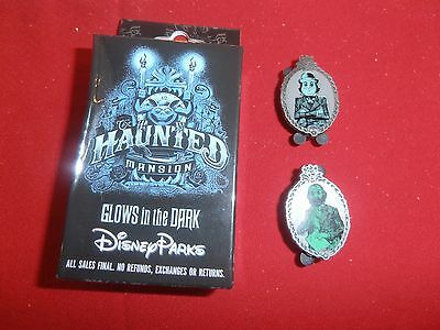 2 Disney Pins Opened 2 pin Box of Hntd Mansion Portraits  New As Shown . lot AA