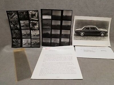 1970 Audi Press Release Super 90 100LS Photos + Negatives Joseph Wherry