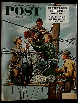 Saturday Evening Post October 1 1952 COKE - AIRLINES - OIL & GAS - RR - BOOT