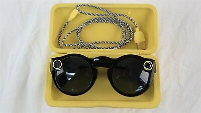 Snap Inc. Snapchat Spectacles Smart Camera Glasses with Charging Case - Black