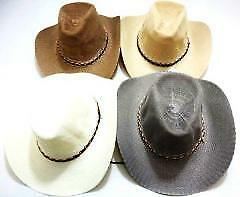 Straw Cowboy Hats - Assorted Colors Case Pack 24