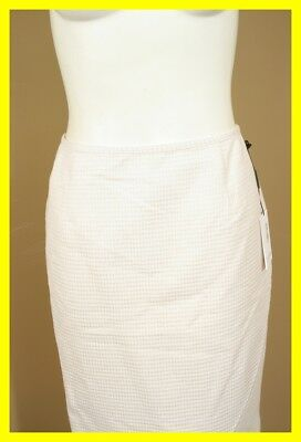 NEW CALVIN KLEIN Cream Gold Shimmer Houndstooth Skirt 10 P NWT 9410 $89