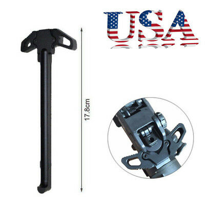 US Butterfly Metal Cocking Handle Poignee Airsoft Accessory For AR15 M4GBB Black