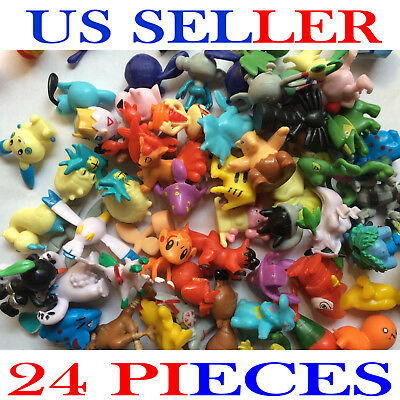 24Pcs Cute Pokemon Mini Pocket Random Action Figures Hot Kids Toys US SELLER