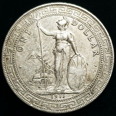 1911 Great Britain $1 British Trade Dollar .900 Silver Collector Coin *GBTD1116