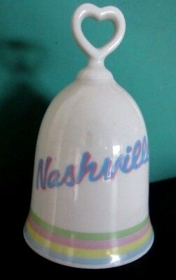 """Vintage Nashville Tennessee Collectible Bell Made In Japan 4.5"""" H Smiles Brand"""