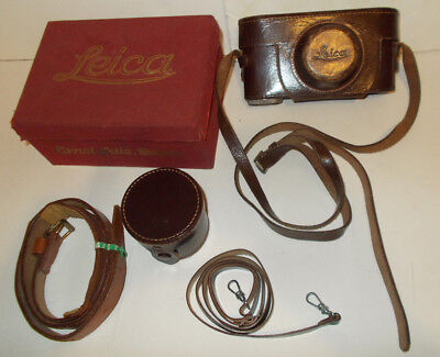 Genuine Leica Handmade Leather Case for Leica IIIf and more,Orig. box, lens case