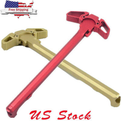 Mil-Spec AR 223 Charging Handle RED Metal Ambidextrous AMBI Handle Accessory