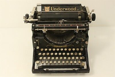 Vintage 1926 Underwood Typewriter Co. Open Frame Glass Keys Parts Repair