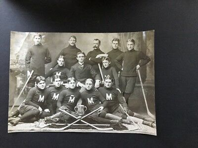 8 Hockey And Ice Skating Photos 1897 Maryland Team Printed 1939, Sonja Henie (2)