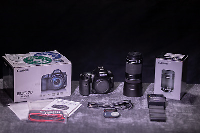 Canon EOS 7D Mark II  Mk II  with Canon EF-S 55-250mmF4-5.6 IS STM  +  Extras!