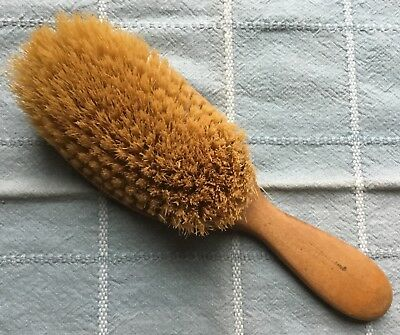 Antique Vtg Wooden Handle Hair Brush - Very Nicely Made