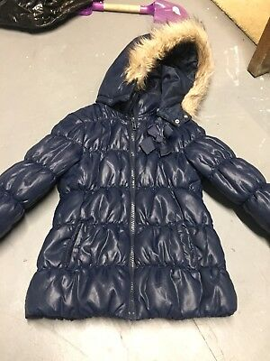 H & M Girls Navy Blue Coat Size 5/6
