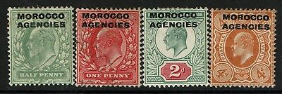 Morocco Agencies SG# 31-33 and 35a, Mint & Used (See Notes) - S2073