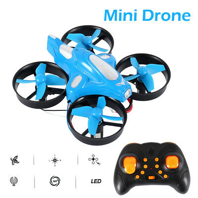 Pocket Mini RC Drone 2.4Ghz 4CH Quadcopter Headless Mode for Beginner Kids Blue