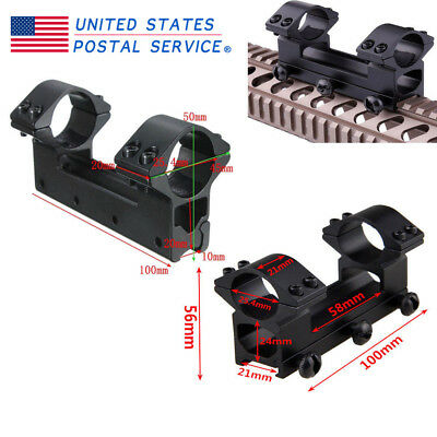 Tactical 25.4mm Dual Ring Scope Mount Picatinny 11mm/20mm Rail High Profile