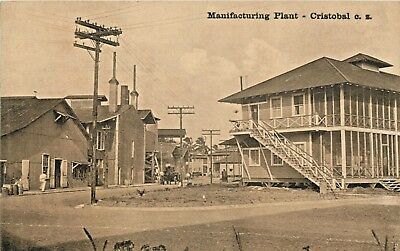 A View Of The Manufacturing Plant, Cristobal, Canal Zone, Panama