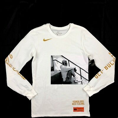 3071ff8f Nike Kyrie Irving Uncle Drew Long Sleeve Shirt White Gold BQ6214-100 Men's  Small