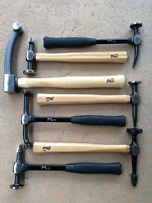 Pro Body 7 Piece Hammer Tool Set Fender Auto body Automotive Collision Repair