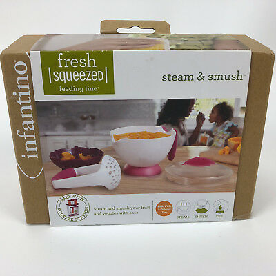 Infantino Fresh Squeezed Steam And Smush Kit_New in Box