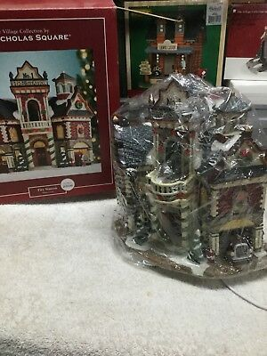 St. Nicholas Square FIREHOUSE No,1 Christmas Village Fire Station  2003