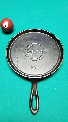 Griswold 737 Slant Logo 7 Handle Griddle. No Erie! HTF!