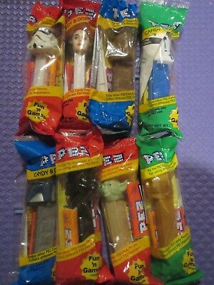 Star Wars Pez Dispensers Lot Of 8 New In Package- 90's