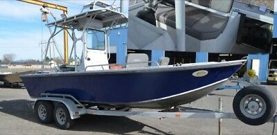 Aluminum inboard fishing jet boat shallow water river boat