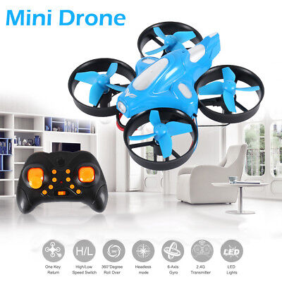 Pocket Drone 2.4G Mini RC Quadcopter Headless Mode Altitude Hold Kids Gift Blue