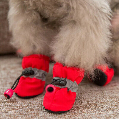 Pet Dog Winter Warm Rain Boots Anti-Slip Puppy Shoes Protective Sock Booties US