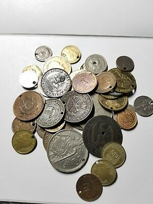 Large Lot Of Foreign Holy Coins Very Old Vintage ANTIQUE