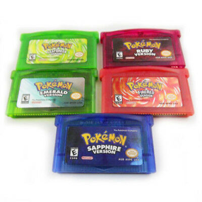 Sapphire/Emerald/Fire Red/Leaf Green Pokemon Game Card Cartridge for GBA Novelty