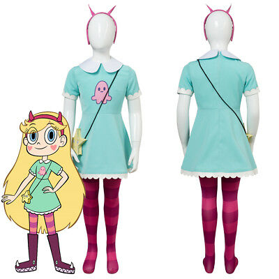 Star vs.the Forces of Evil Princess Butterfly Kid Child Ver.Cosplay Costume Suit