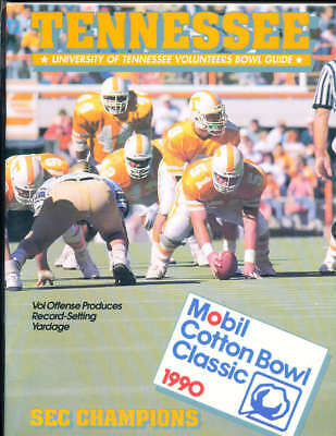 1990 Tennessee Football Guide Cotton Bowl  a10 bx67