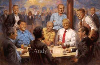 Andy Thomas Republican Club Signed Open Edition on Canvas