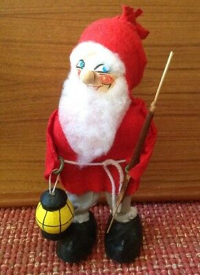 """Very Old Vintage Swedish TOMTE / NISSE 8"""" Figure with Hand Painted Face"""