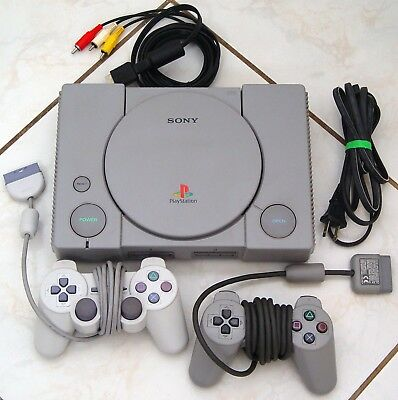 Original SONY Playstation PS1 Console Fat - DualShock CLEANED TESTED Free Ship